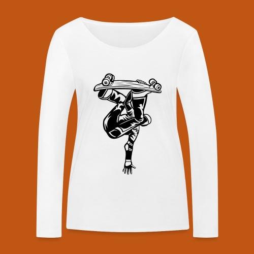 Skater / Skateboarder 03_schwarz weiß - Frauen Bio-Langarmshirt von Stanley & Stella