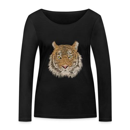 Tiger - Frauen Bio-Langarmshirt von Stanley & Stella
