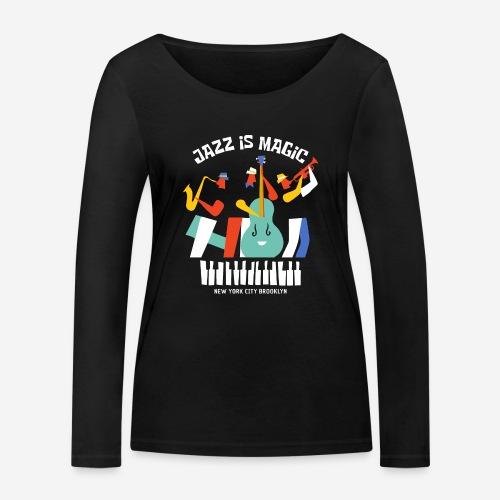 Jazzmusik Magie - Frauen Bio-Langarmshirt von Stanley & Stella