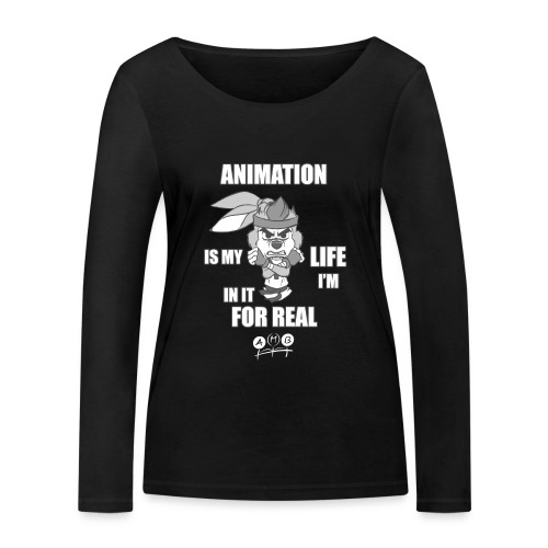 AMB Animation - In It For REAL - Women's Organic Longsleeve Shirt by Stanley & Stella