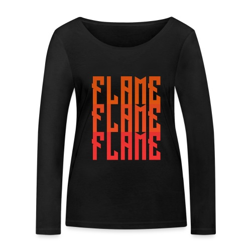 maglietta_flame_flame_flame - Maglietta a manica lunga ecologica da donna di Stanley & Stella