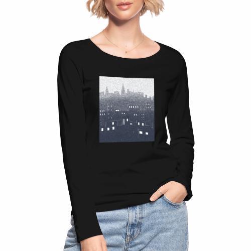 citysnow rectangle - T-shirt manches longues bio Stanley & Stella Femme