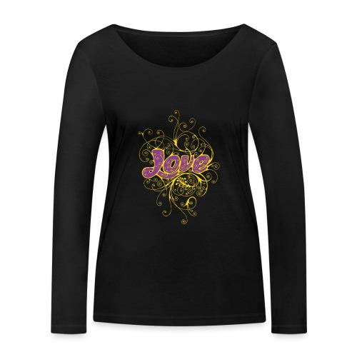LOVE VIOLA CON DECORI - Maglietta a manica lunga ecologica da donna di Stanley & Stella