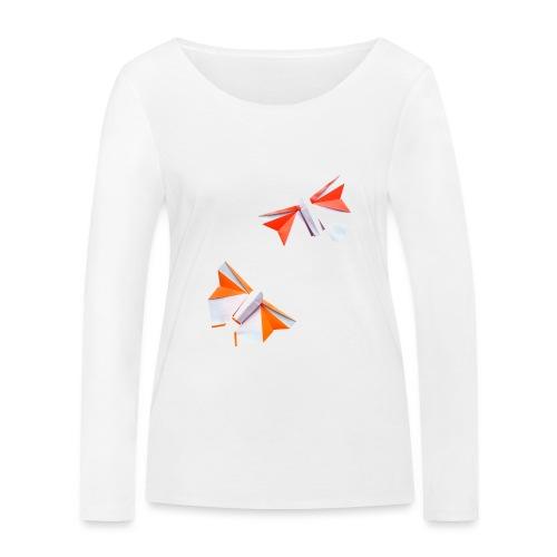 Butterflies Origami - Butterflies - Mariposas - Women's Organic Longsleeve Shirt by Stanley & Stella