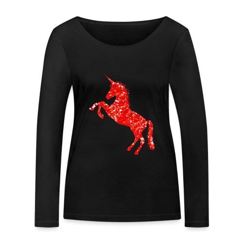 unicorn red - Ekologiczna koszulka damska z długim rękawem Stanley & Stella