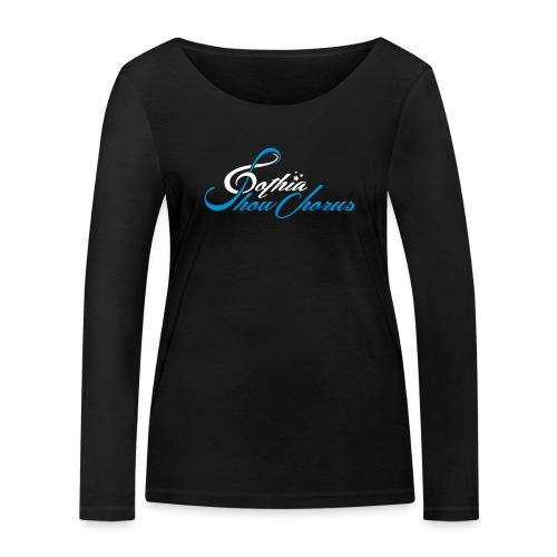 GothiaShowChorus_liggande vit blå - Ekologisk långärmad T-shirt dam från Stanley & Stella
