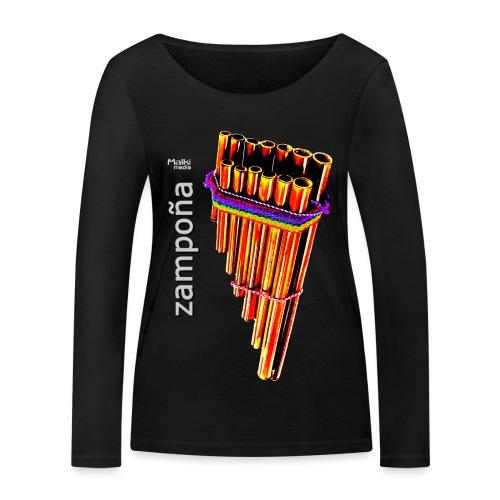 Zampoña clara - T-shirt manches longues bio Stanley & Stella Femme