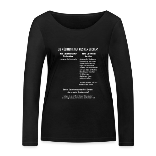 Musiker buchen - Frauen Bio-Langarmshirt von Stanley & Stella