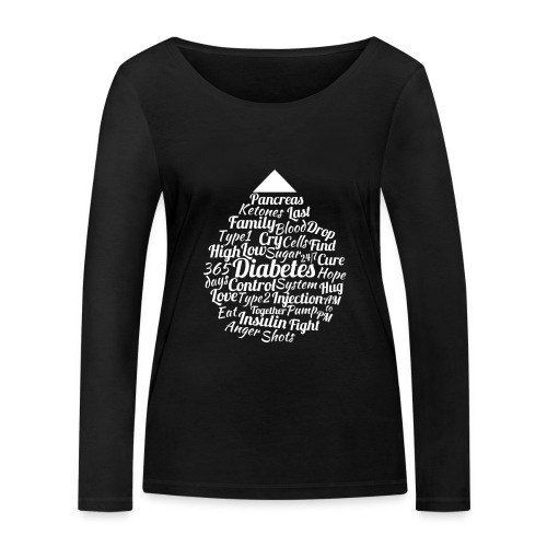 CURE DIABETES - Women's Organic Longsleeve Shirt by Stanley & Stella