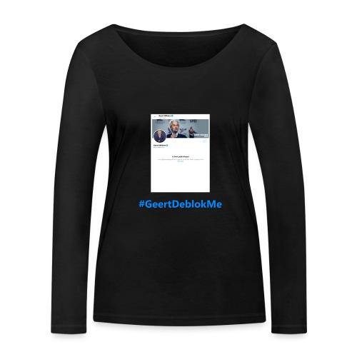 #GeertDeblokMe - Vrouwen bio shirt met lange mouwen van Stanley & Stella