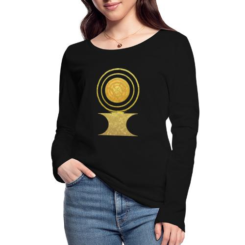 Native America Indianer Symbol Hopi ssl Sonne - Frauen Bio-Langarmshirt von Stanley & Stella
