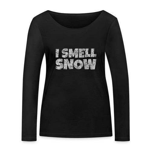 I Smell Snow (Grau) Schnee, Winter, Wintersport - Frauen Bio-Langarmshirt von Stanley & Stella