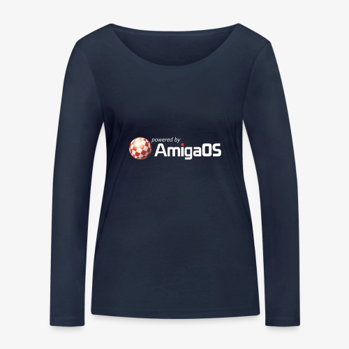PoweredByAmigaOS white - Women's Organic Longsleeve Shirt by Stanley & Stella