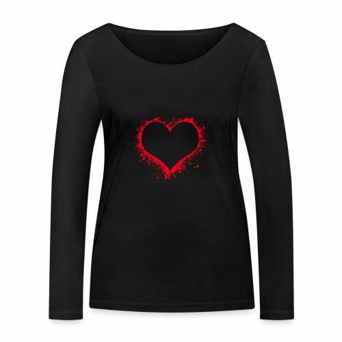 Love you - Frauen Bio-Langarmshirt von Stanley & Stella