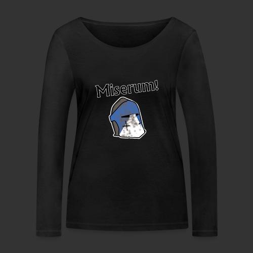 Warden Cytat Miserum! - Ekologiczna koszulka damska z długim rękawem Stanley & Stella