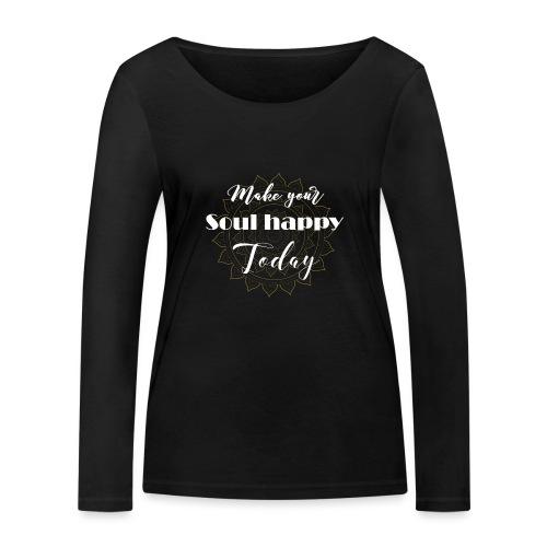 Make your soul happy today - white mandala - Frauen Bio-Langarmshirt von Stanley & Stella