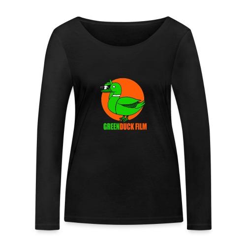 Greenduck Film Orange Sun Logo - Økologisk Stanley & Stella langærmet T-shirt til damer