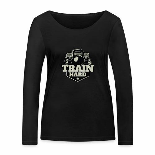 Train Hard - Frauen Bio-Langarmshirt von Stanley & Stella