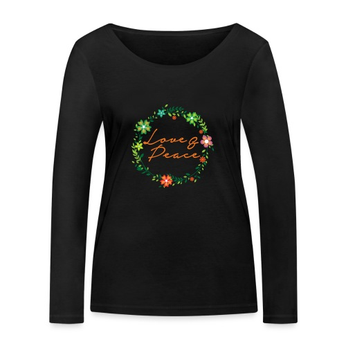 Love and Peace - Women's Organic Longsleeve Shirt by Stanley & Stella