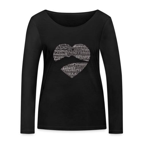 cuordinapoli black - Maglietta a manica lunga ecologica da donna di Stanley & Stella