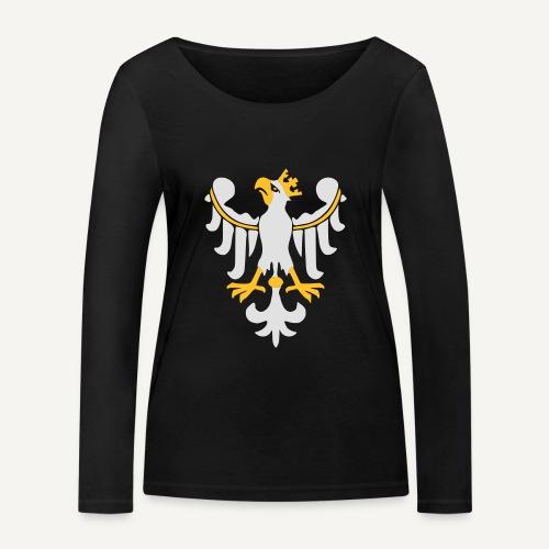Orzeł Piastowski - Ekologiczna koszulka damska z długim rękawem Stanley & Stella