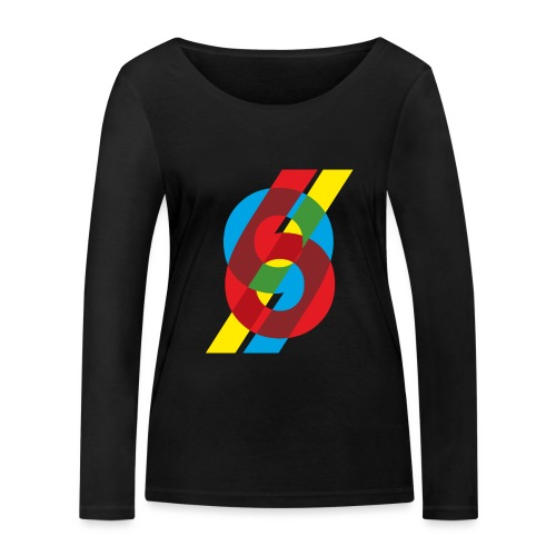 colorful numbers - Women's Organic Longsleeve Shirt by Stanley & Stella