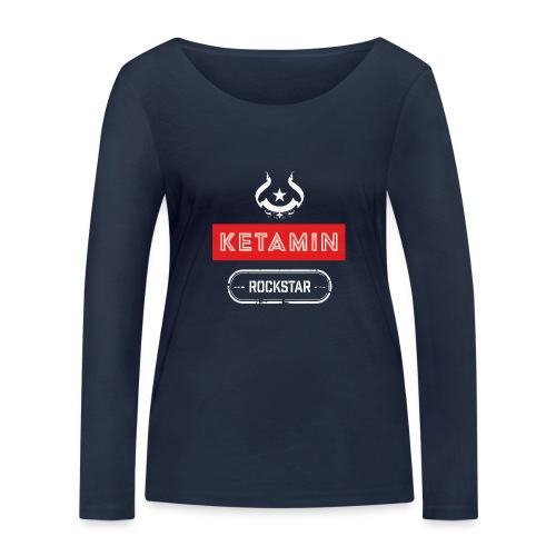 KETAMIN Rock Star - White/Red - Modern - Women's Organic Longsleeve Shirt by Stanley & Stella