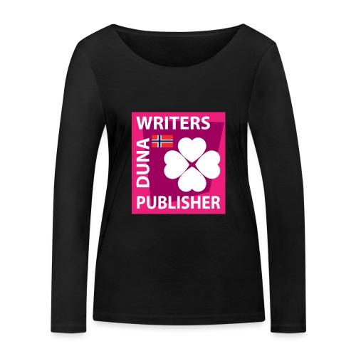 Duna Writers Publisher Pink - Økologisk langermet T-skjorte for kvinner fra Stanley & Stella