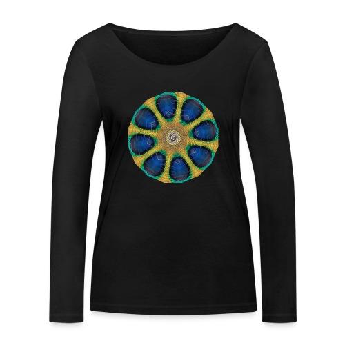 Pfau Kaleidoskop - Frauen Bio-Langarmshirt von Stanley & Stella