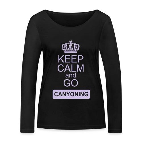 keep calm and go canyoning 2 - Frauen Bio-Langarmshirt von Stanley & Stella
