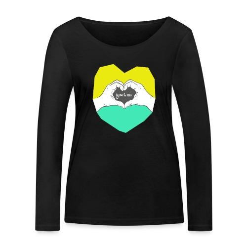hearthands you & me Poly Herz illustration - Frauen Bio-Langarmshirt von Stanley & Stella