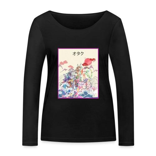 Aesthetic Vaporwave Synthwave Japan Anime Retro - Frauen Bio-Langarmshirt von Stanley & Stella