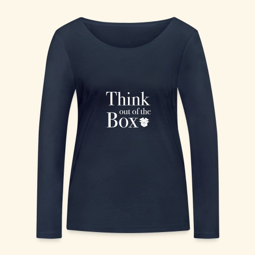 Designed MIndset Thinking Out Of The Box - Maglietta a manica lunga ecologica da donna di Stanley & Stella