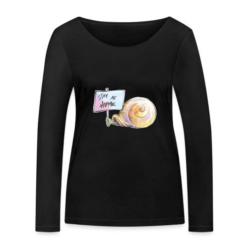 Stay at home - Frauen Bio-Langarmshirt von Stanley & Stella