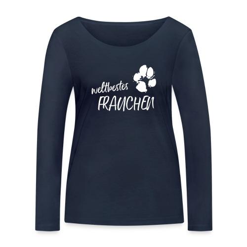 Vorschau: weltbestes Frauchen Pfote Hund - Frauen Bio-Langarmshirt von Stanley & Stella