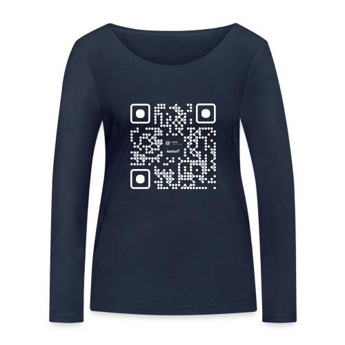 QR - Maidsafe.net White - Women's Organic Longsleeve Shirt by Stanley & Stella