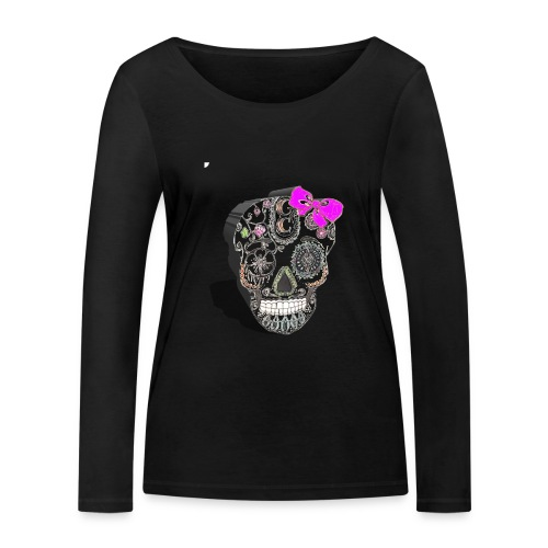Tête de mort mexicaine 3D - T-shirt manches longues bio Stanley & Stella Femme