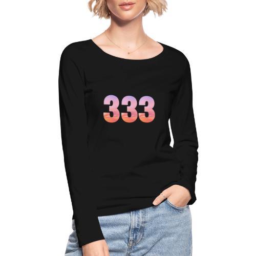 333 vous étes entouré de maitres ascensionnés - T-shirt manches longues bio Stanley & Stella Femme