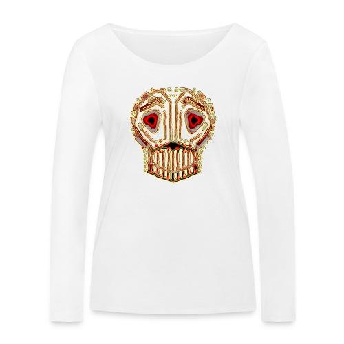 dead skull resembles herbaceous scary culture art - Women's Organic Longsleeve Shirt by Stanley & Stella