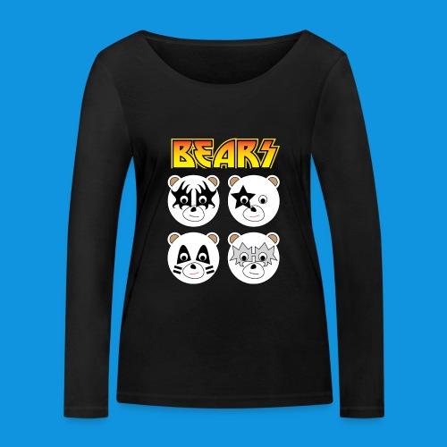 Kiss Bears square.png - Women's Organic Longsleeve Shirt by Stanley & Stella