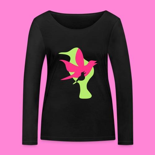 birds - Vrouwen bio shirt met lange mouwen van Stanley & Stella