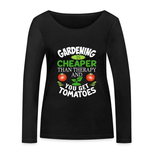 Garten Gartenarbeit Therapie Tomaten Hobbygärtner - Frauen Bio-Langarmshirt von Stanley & Stella