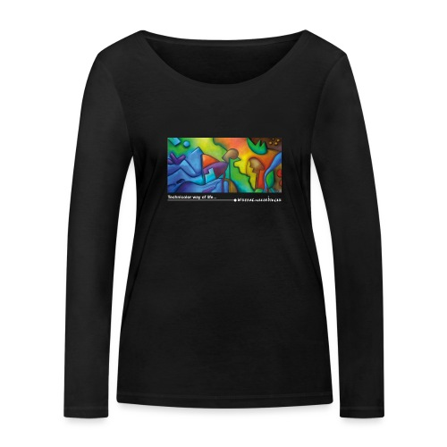 Technicolorwayoflife_Blan - T-shirt manches longues bio Stanley & Stella Femme