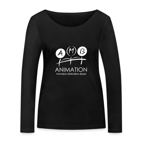 AMB Logo Animation Motivation Belief - Women's Organic Longsleeve Shirt by Stanley & Stella
