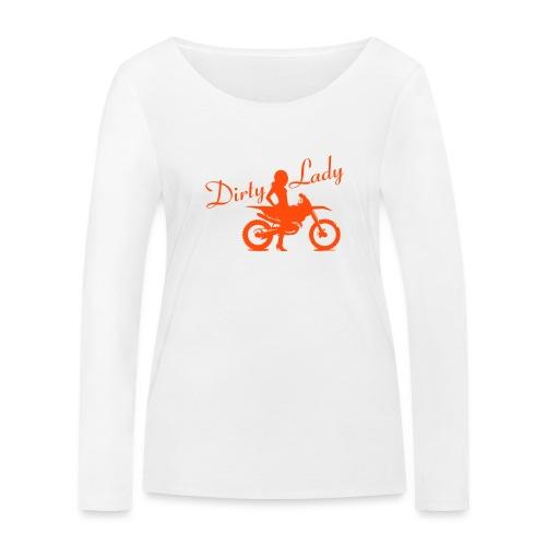 Dirty Lady - Dirt bike - Stanley & Stellan naisten pitkähihainen luomupaita