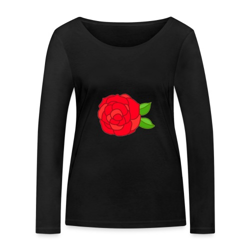 Róża - Ekologiczna koszulka damska z długim rękawem Stanley & Stella