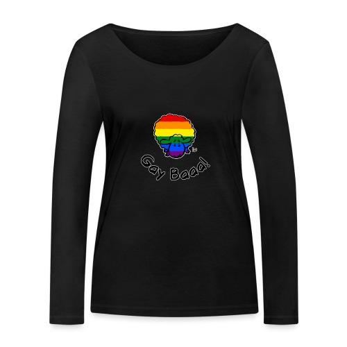 Gay Baaa! Rainbow Pride Sheep (edizione nera) - Maglietta a manica lunga ecologica da donna di Stanley & Stella