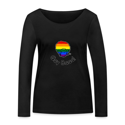 Homofil Baaa! Rainbow Pride Sheep (svart utgave) - Økologisk langermet T-skjorte for kvinner fra Stanley & Stella