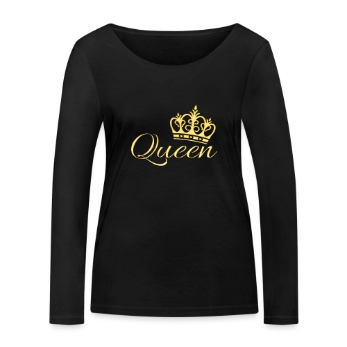 Queen Or -by- T-shirt chic et choc - T-shirt manches longues bio Stanley & Stella Femme