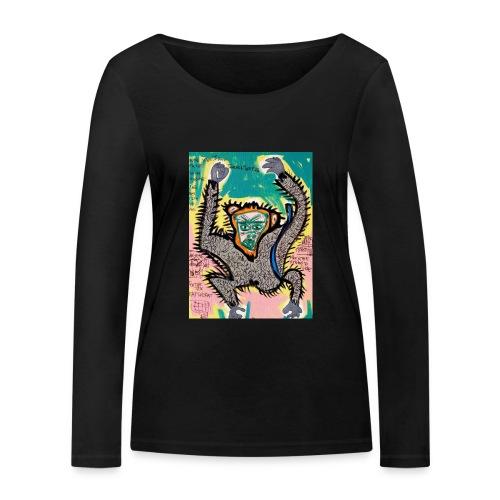 the monkey - Maglietta a manica lunga ecologica da donna di Stanley & Stella